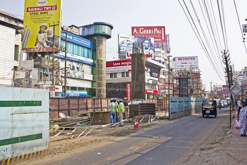 Здание метро Ernakulam стоковое фото rf