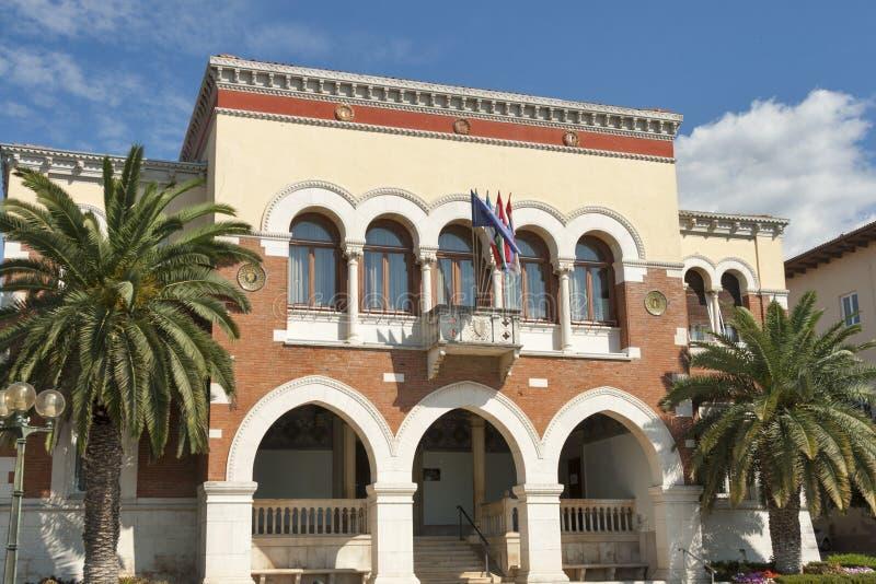 Здание муниципалитета Porec, Хорватия стоковая фотография