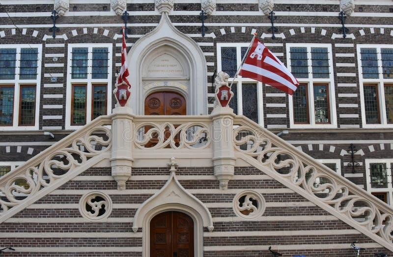 Здание муниципалитет Алкмар стоковое фото
