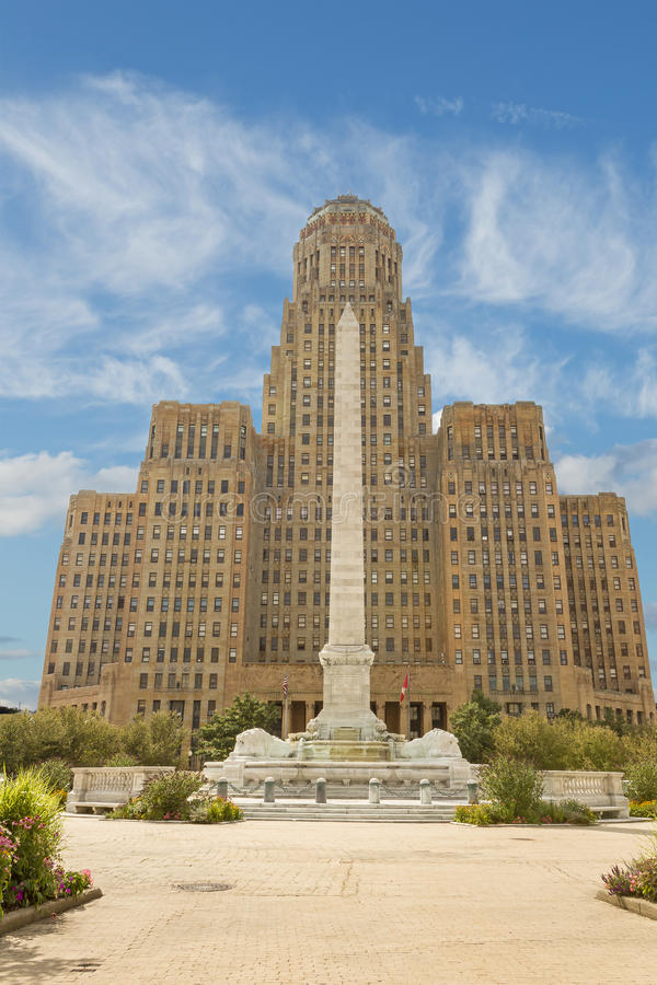 Здание муниципалитет, буйвол Нью-Йорк стоковые фотографии rf