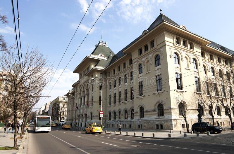 Здание муниципалитет Бухареста стоковые фотографии rf