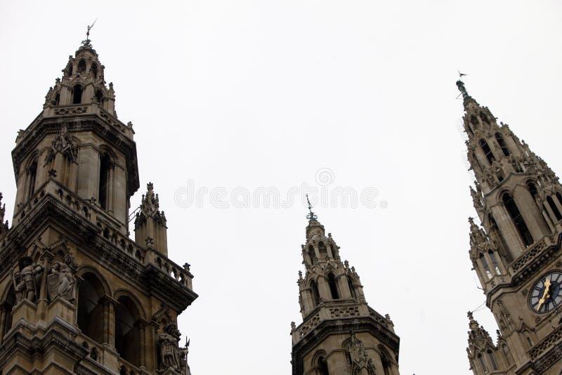 Здание муниципалитет вены строя Rathaus стоковое изображение