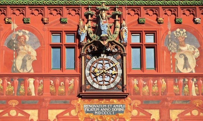 Здание муниципалитет в Базеле, Швейцарии стоковое фото rf