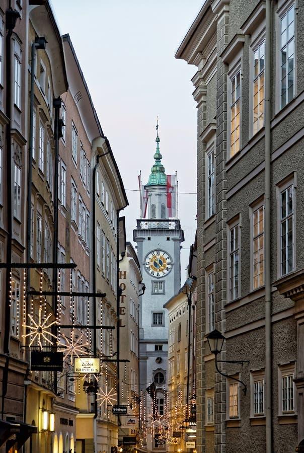 Здание муниципалитет в Зальцбурге стоковое фото