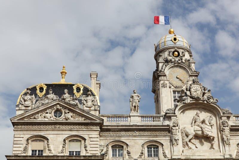 Здание муниципалитет в Лионе, Франции стоковая фотография