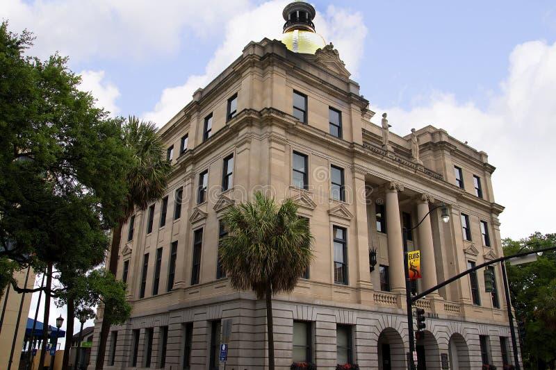 Здание муниципалитет в саванне в Georgia США стоковое фото rf