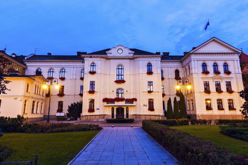 Здание муниципалитет в Bydgoszcz стоковые фотографии rf