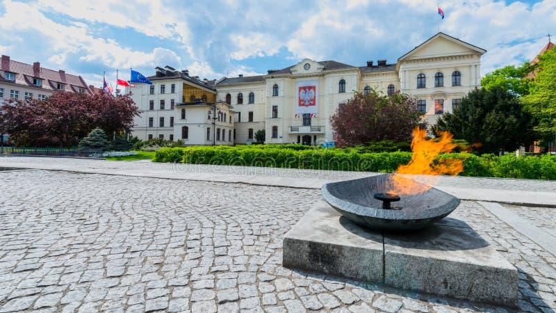 Здание муниципалитет в Bydgoszcz стоковое фото