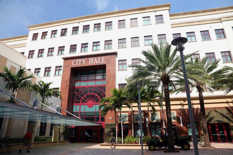 Здание муниципалитет в West Palm Beach стоковое фото rf