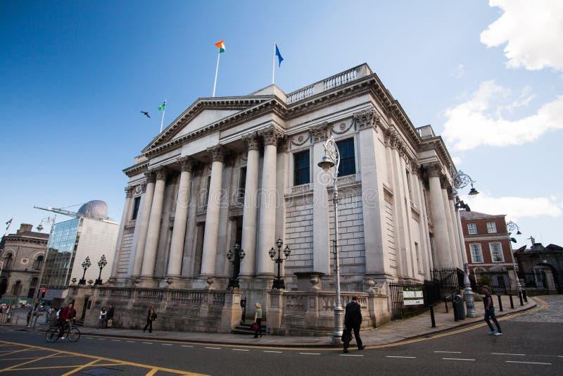 Здание муниципалитет, город Дублина стоковые изображения rf
