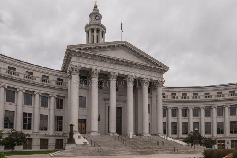 Здание муниципалитет Денвера стоковое изображение rf