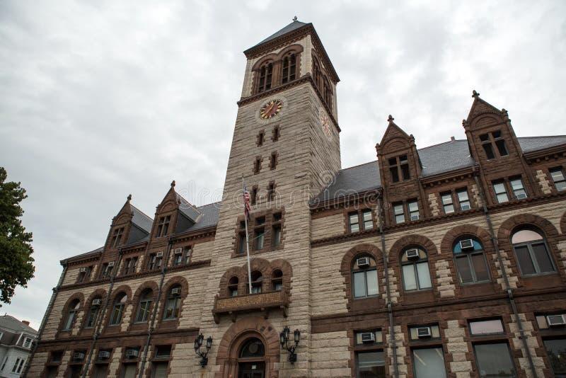 Здание муниципалитет Кембриджа стоковые изображения rf
