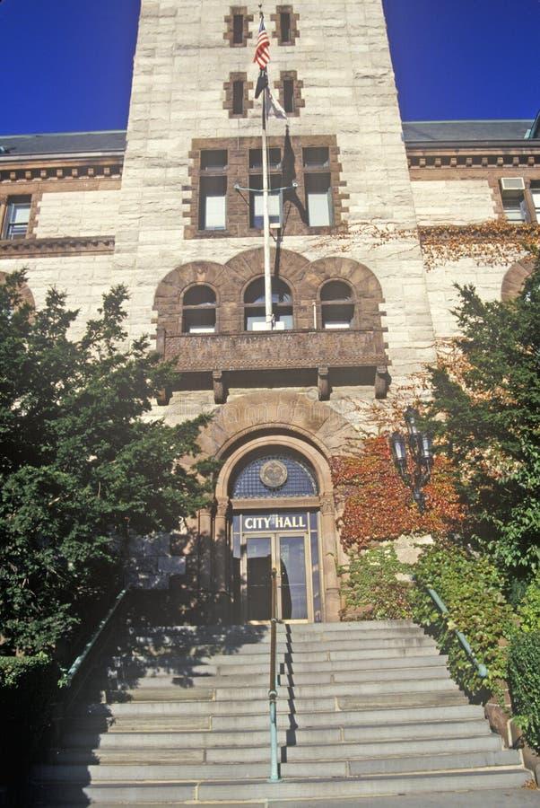 Здание муниципалитет, Кембридж, Массачусетс стоковое фото rf