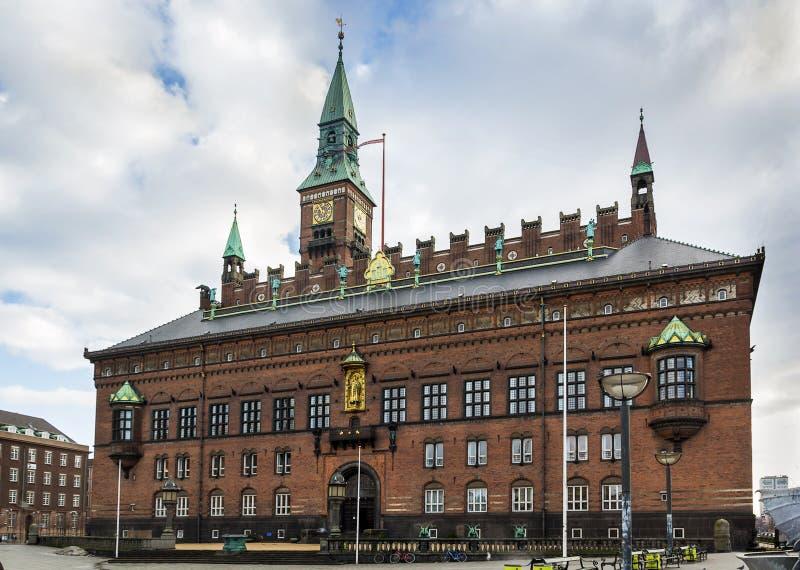 Здание муниципалитет Копенгагена стоковые изображения rf