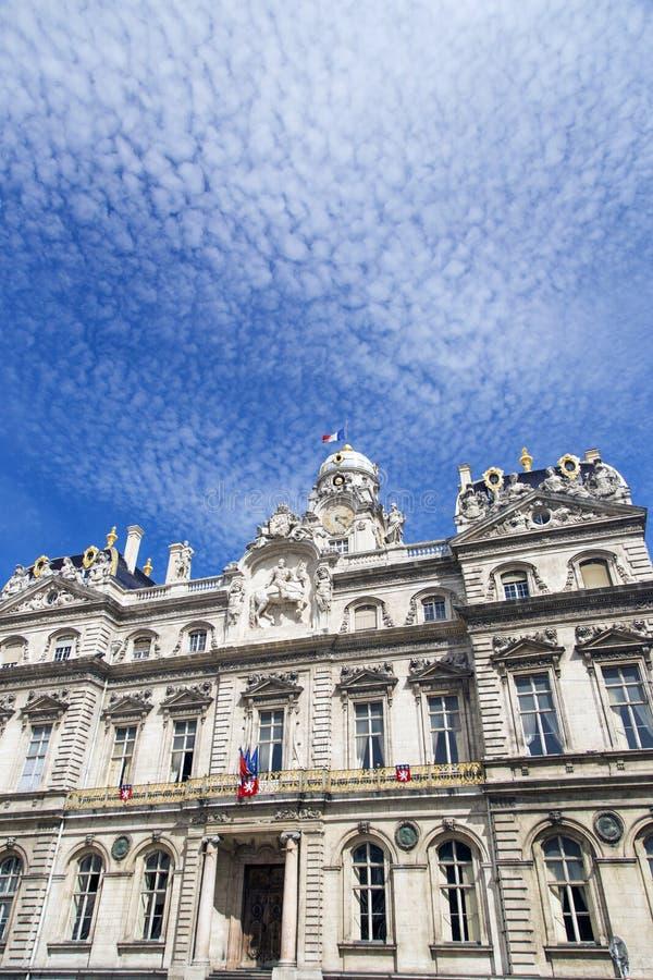 Здание муниципалитет Лиона (Гостиница de Ville) Франция стоковое фото rf