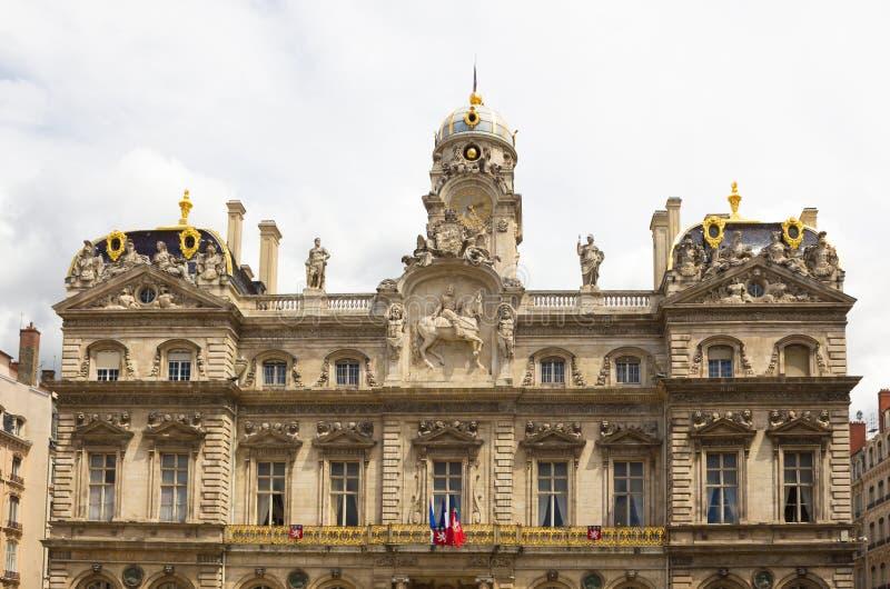 Здание муниципалитет Лиона, Франции стоковая фотография rf
