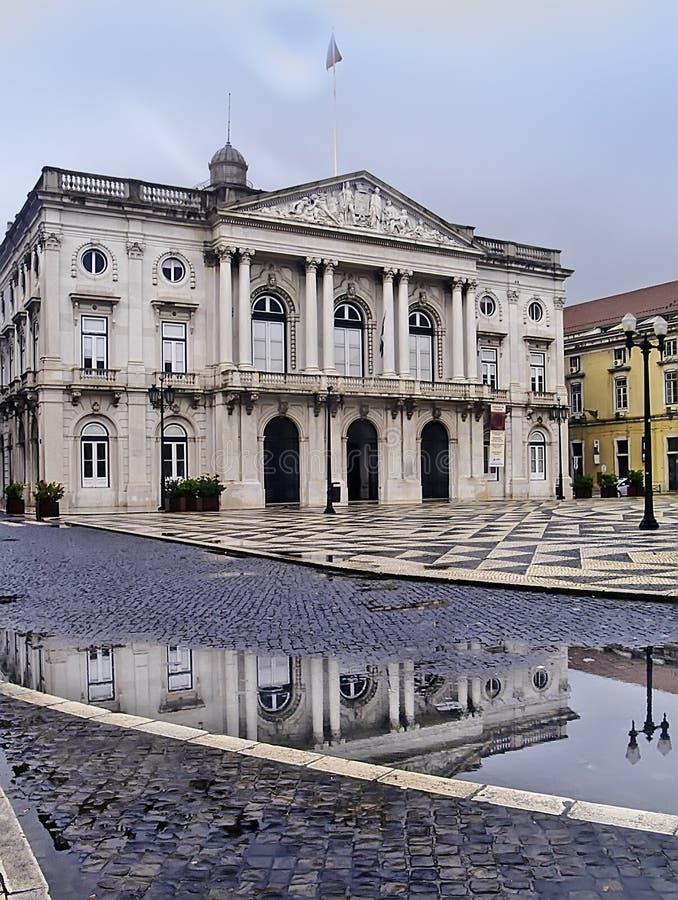 Здание муниципалитет Лиссабона стоковая фотография rf