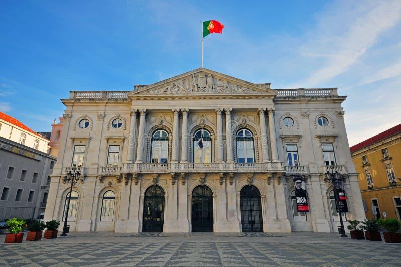 Здание муниципалитет Лиссабона стоковые фото