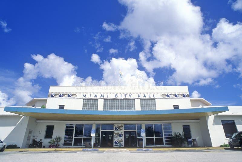 Здание муниципалитет Майами, Майами, Флорида стоковое изображение