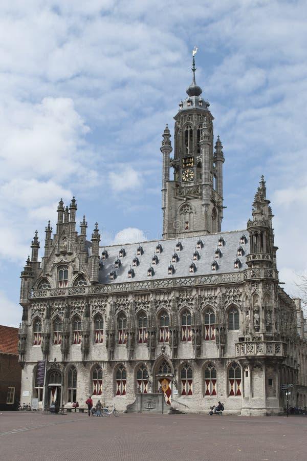 Здание муниципалитет Мидделбурга стоковые изображения