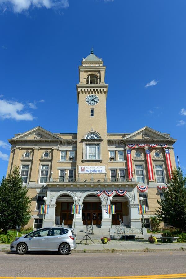 Здание муниципалитет Монпелье, Вермонт, США стоковое фото rf