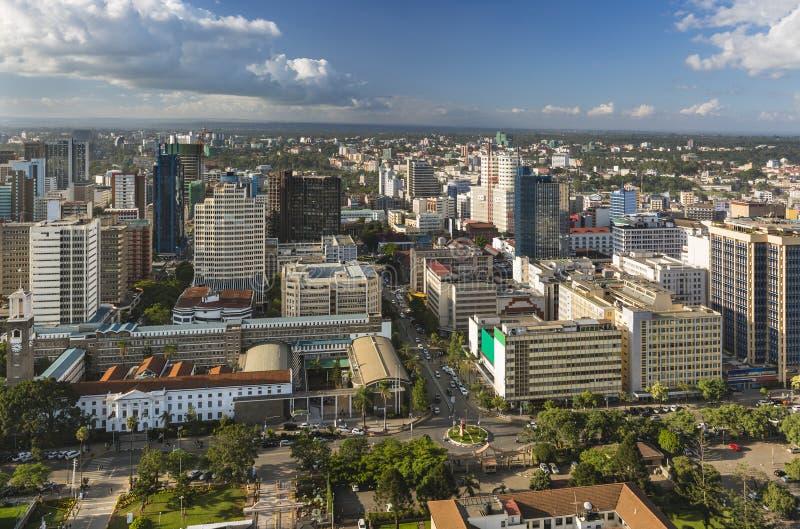 Здание муниципалитет Найроби и северный финансовый район, Кения стоковое изображение