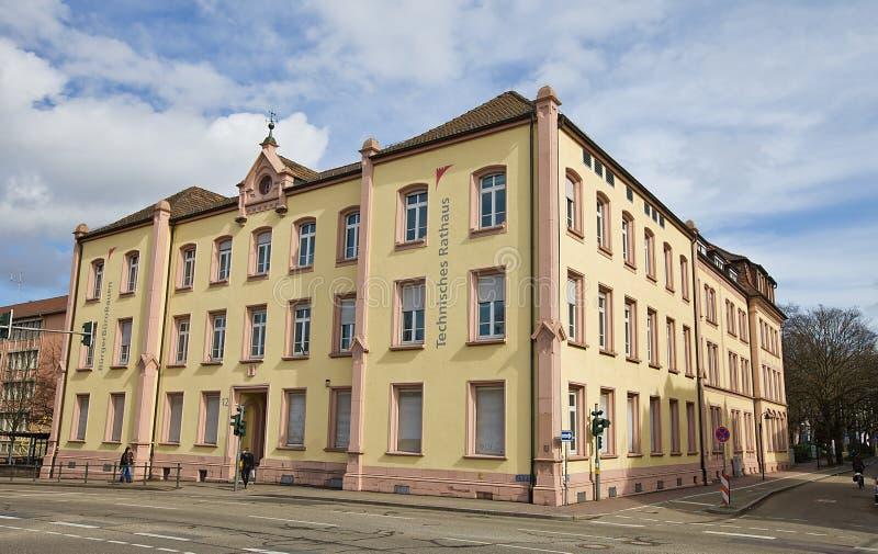 Здание муниципалитет в Offenburg, Германии стоковая фотография rf