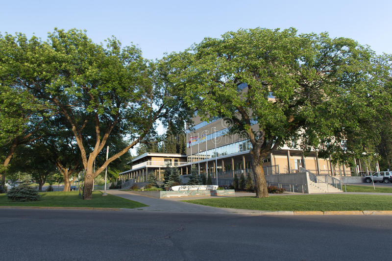 Здание муниципалитет принца Джордж стоковые фото