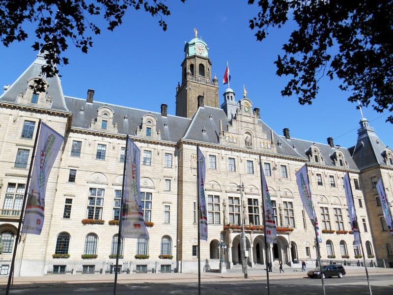 Здание муниципалитет Роттердама, Нидерланды стоковое изображение rf