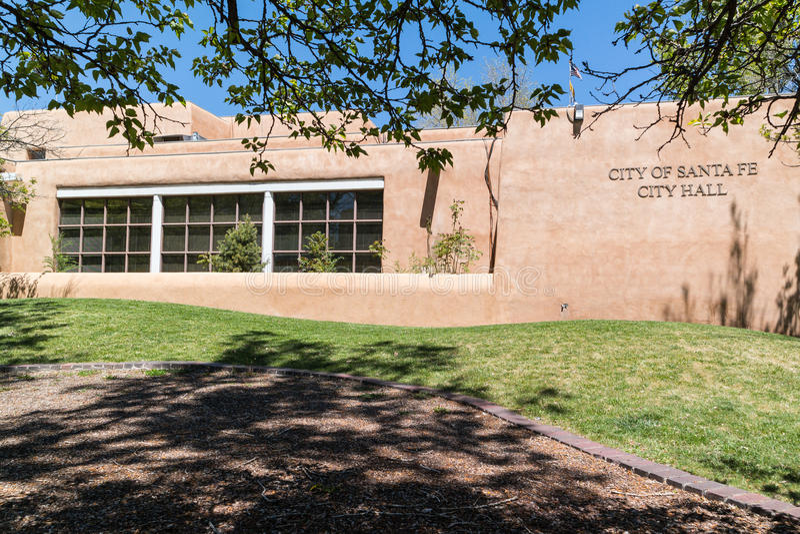 Здание муниципалитет, Санта-Фе, Неш-Мексико стоковые фото
