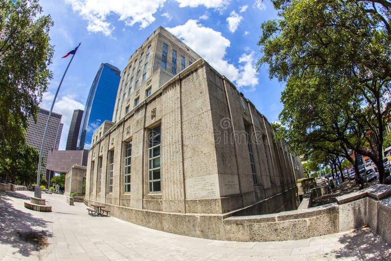 Здание муниципалитет Хьюстона в Техасе стоковая фотография rf