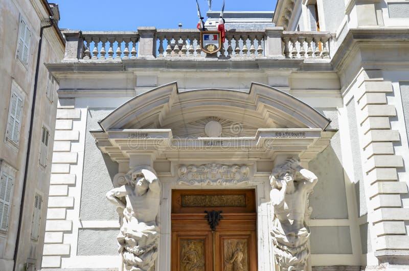 Здание муниципалитет Evian, Франции стоковое фото rf