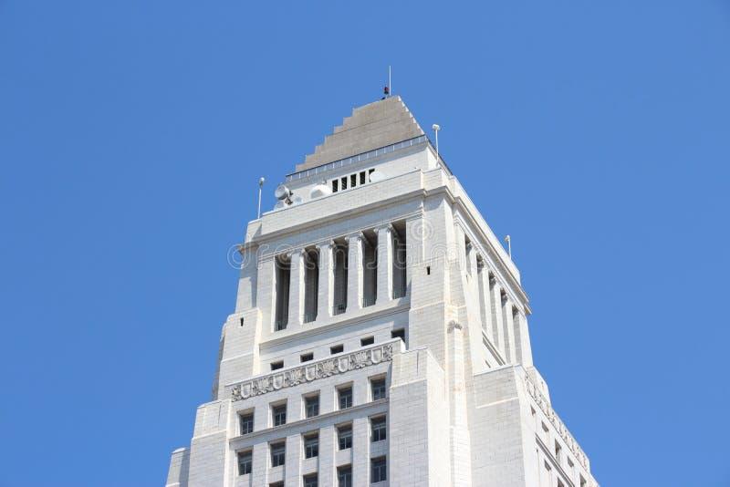 здание муниципалитет los angeles стоковое изображение rf