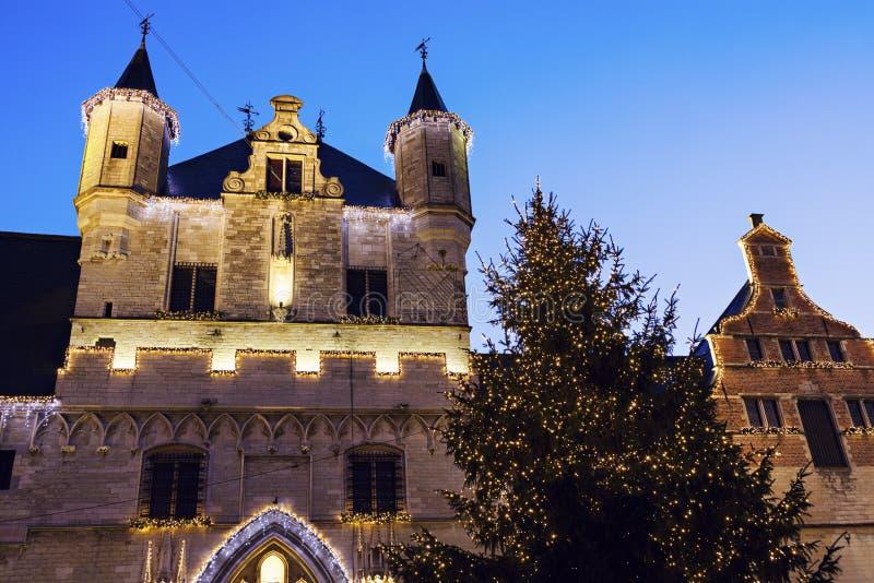 здание муниципалитет mechelen стоковое изображение rf