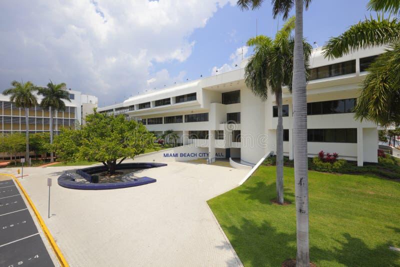 Здание муниципалитет Miami Beach стоковое изображение