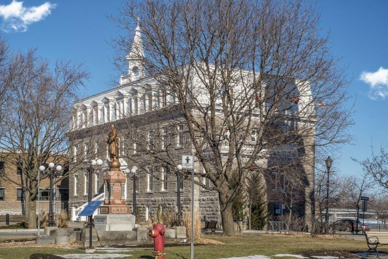 Здание муниципалитет st-Eustache стоковые фото