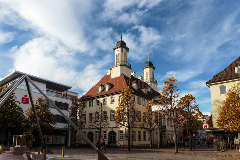 Здание муниципалитет Tuttlingen стоковые фото
