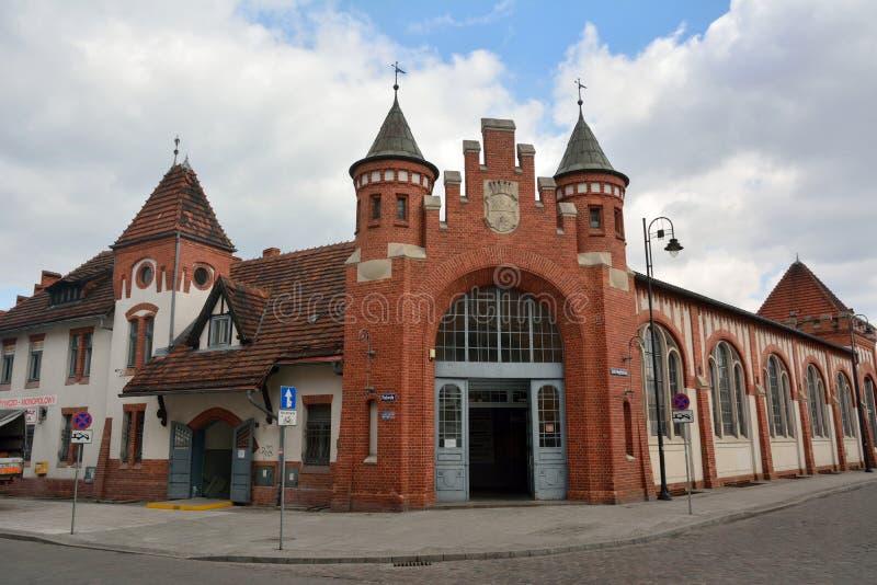 Здание муниципального рынка Hall в Bydgoszcz, Польше стоковые фото