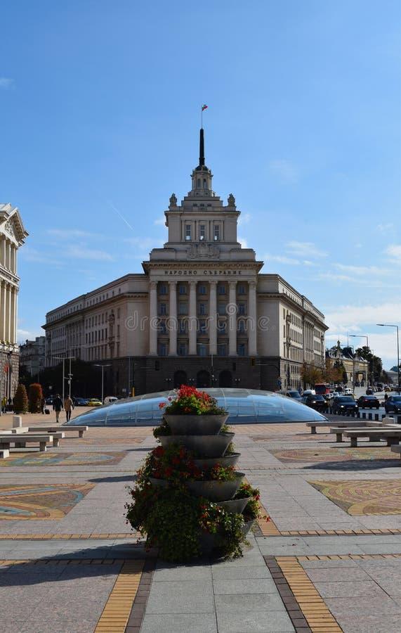 Здание национального собрания Болгарии стоковые фотографии rf