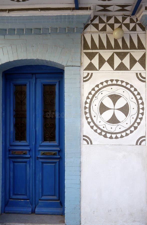 Здание на острове Хиоса стоковые изображения