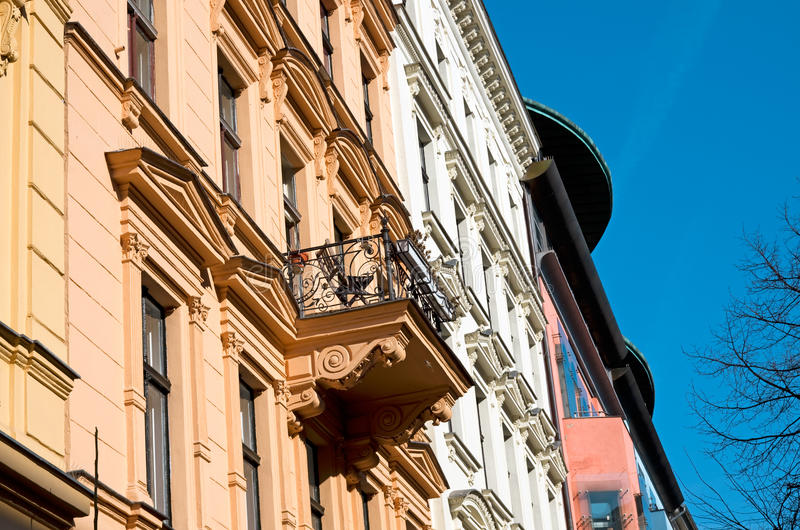 Здание недвижимости Берлина старое стоковые изображения