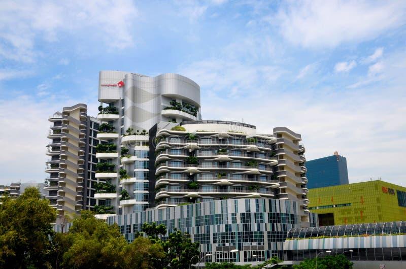 Здание общей больницы Jurong восточного Сингапура Ng Teng Fong стоковое изображение rf