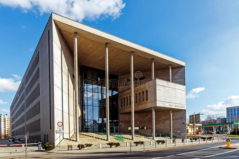 Здание окружной суд в Катовице стоковые фото