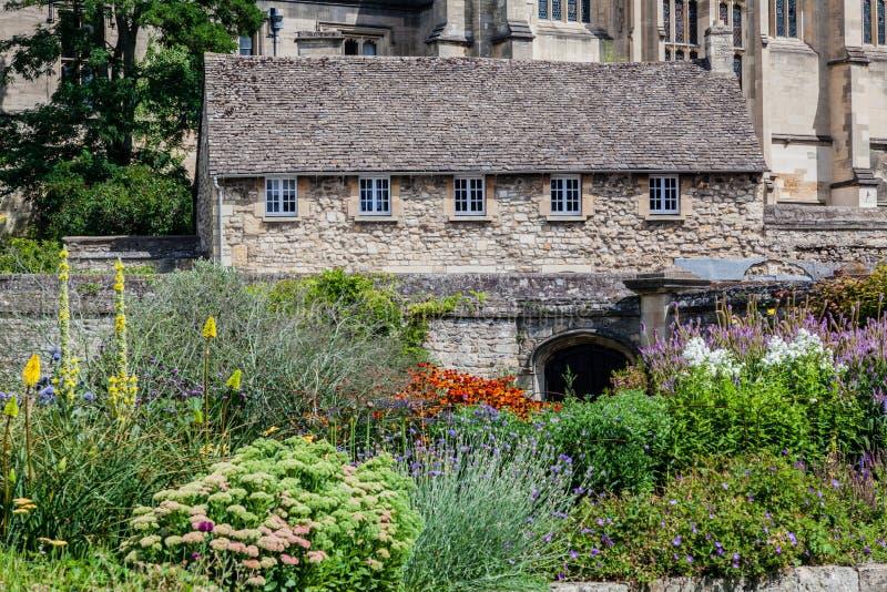 Здание Оксфорда Англии историческое средневековое каменное стоковое изображение rf