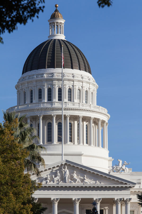Здание дома и капитолия положения Калифорнии, Сакраменто стоковое изображение rf