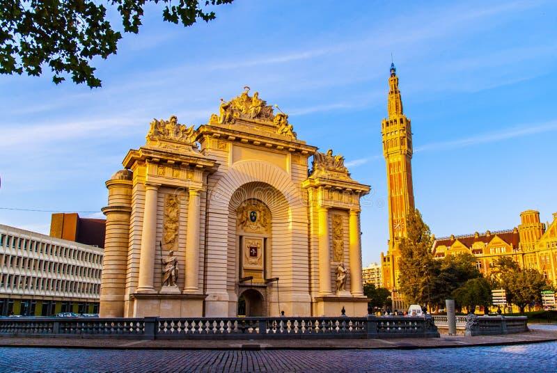 Здание ориентир ориентира города Лилля стоковая фотография rf
