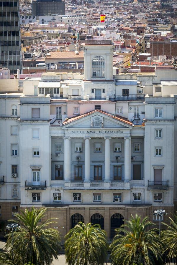 Здание правительства в Барселоне стоковые фотографии rf