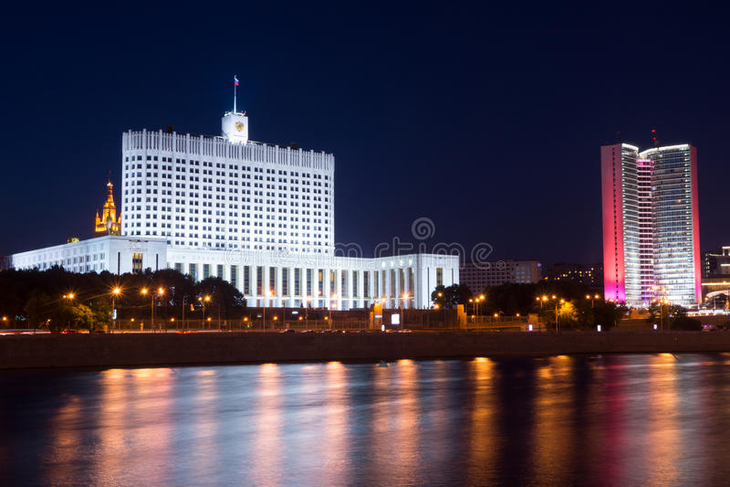 Здание правительства России стоковое изображение rf
