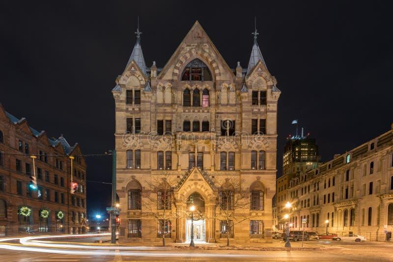 Здание сберегательного банка Сиракуза стоковые изображения rf