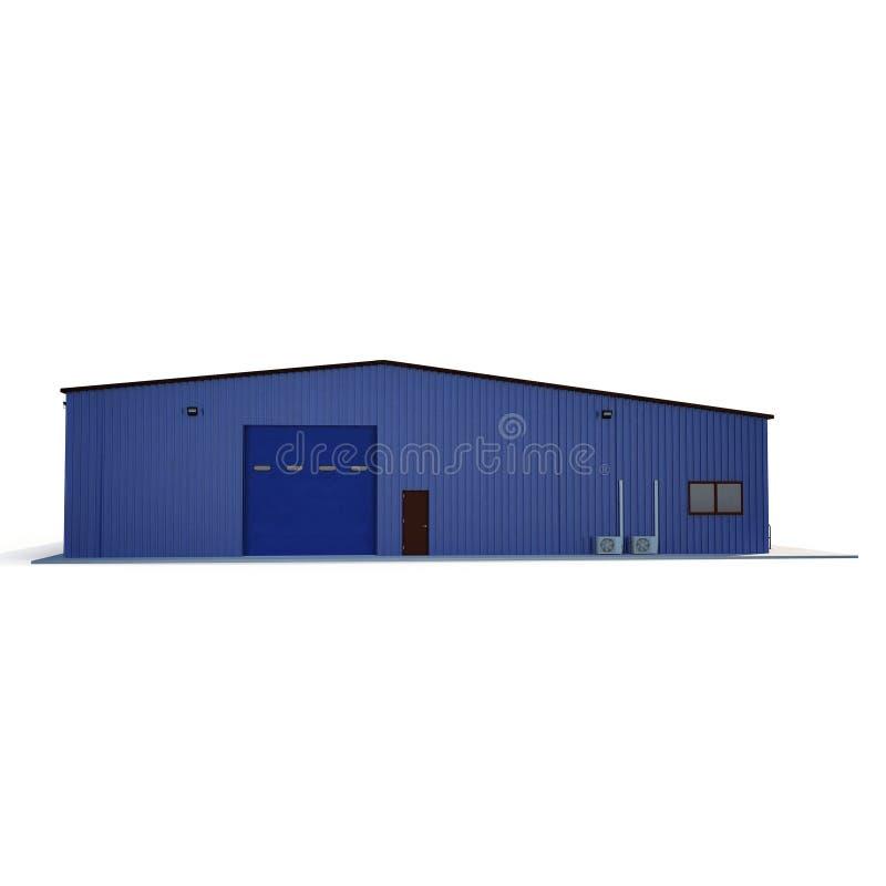 Здание склада медного штейна на белизне иллюстрация 3d бесплатная иллюстрация